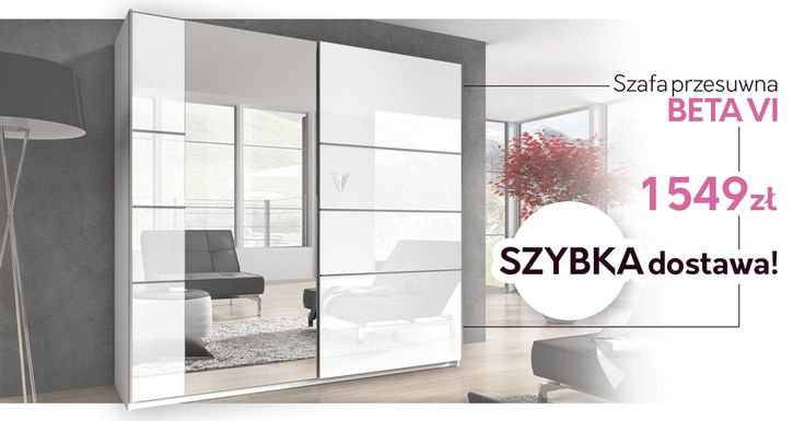 Lubisz przeglądać się w lustrze? Ta szafa jest właśnie dla Ciebie! Do you like to inspect yourself in a mirror? This wardrobe is exactly for you! #wardrobe #szafa #white #mirror #selfie #home #sweethome #bedroom ##mirjan24