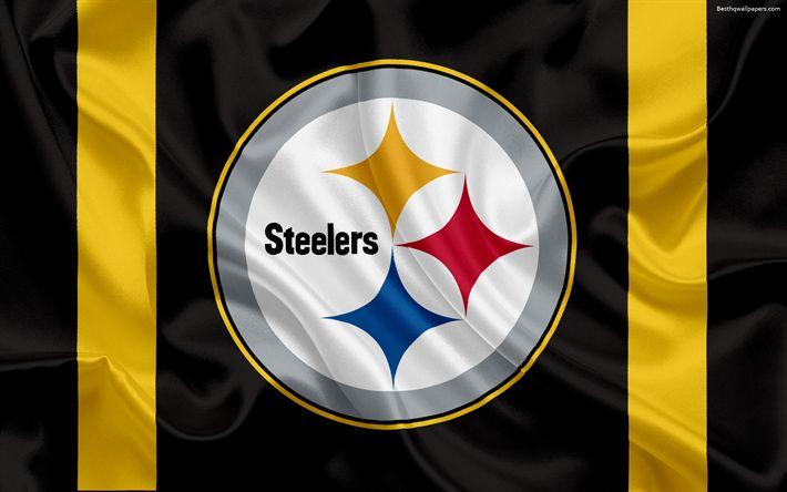 Hämta bilder Pittsburgh Steelers, Amerikansk fotboll, logotyp, emblem, National Football League, NFL, Pittsburgh, Pennsylvania, USA