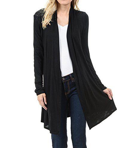6d12aa649c8 EttelLut Long Open Front Lightweight Cardigan Sweaters Regular Plus Size at  Amazon Women s Clothing store