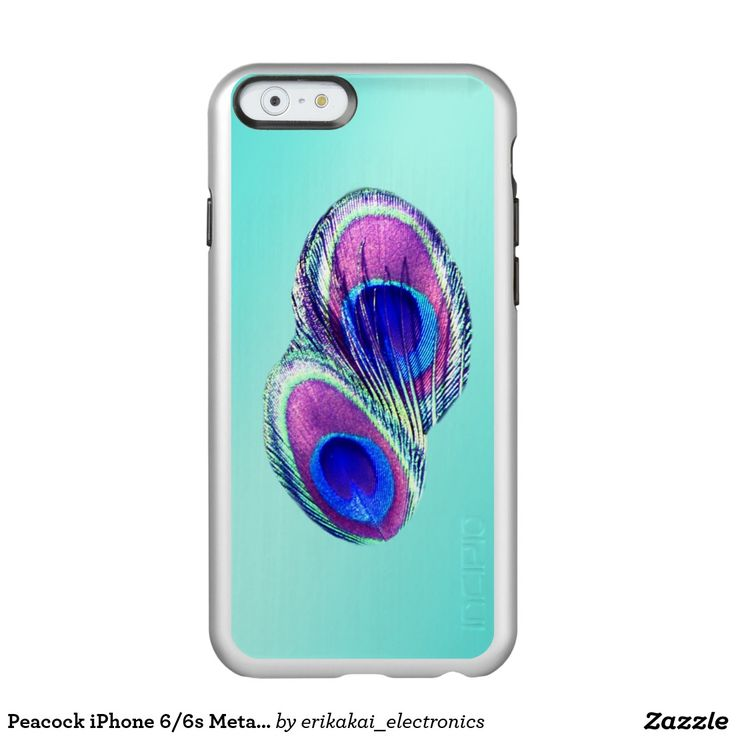 Peacock iPhone 6/6s Metalic Case. Silver, gold or rose gold.
