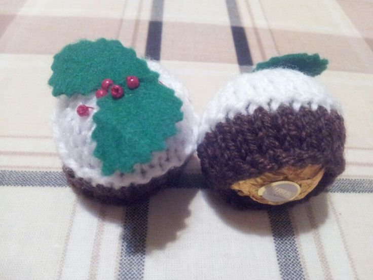 Knitting Pattern Christmas Pudding Ferrero Rocher : Little knitted Ferrero Rocher cosies! Christmas xx Pinterest Ferrero ro...