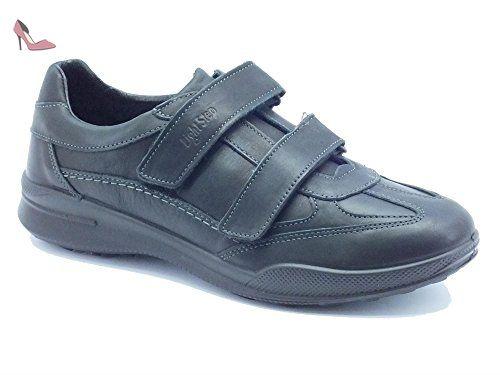 Chaussures Homme grisport Light Step en cuir noir double velcro - noir - Nero Piuma, 44 EU EU - Chaussures grisport (*Partner-Link)
