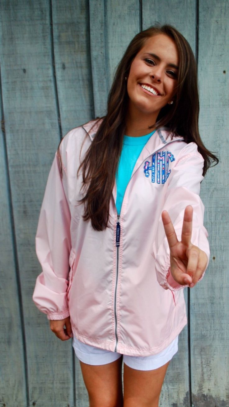A personal favorite from my Etsy shop https://www.etsy.com/listing/244238175/monogrammed-jacket-with-lilly-pulitzer
