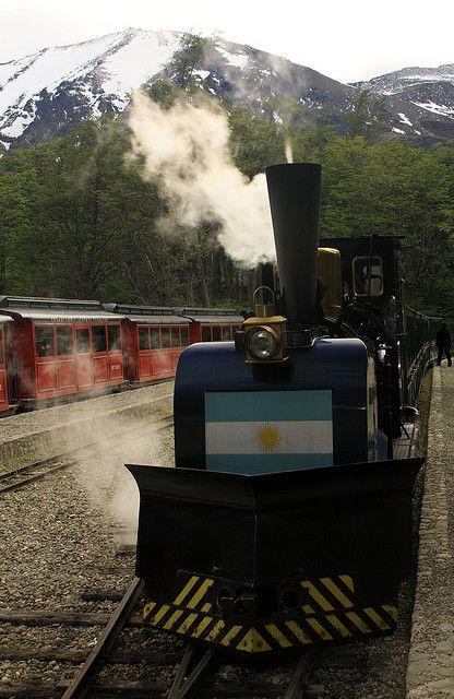 Tren pequeño (little train) en Ushuaia, Argentina
