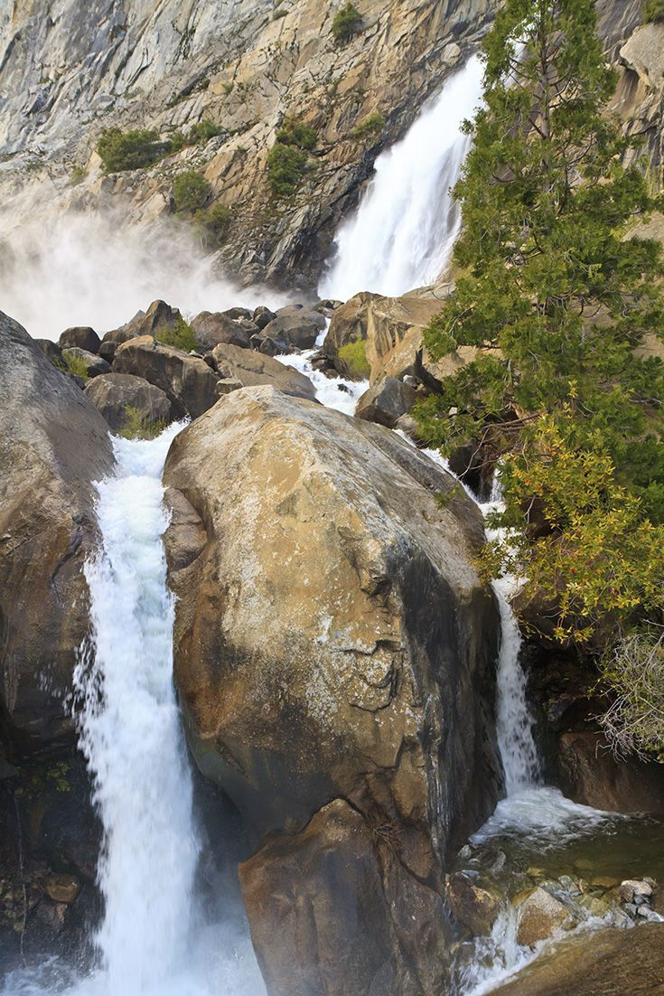 Spring is the best time to view waterfalls in Yosemite National Park - definitely plan to take these in when you #FindYourPark in Yosemite!