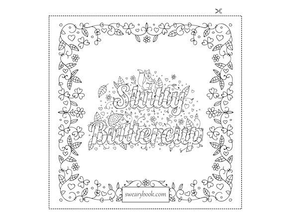 Coloring Book Etsy : 119 best swearing coloring pages images on pinterest