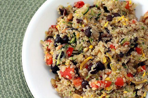 Quinoa Veggie Pilaf: Quinoa Recipe, Side Dishes, Cold Quinoa Salad, Veggies Pilaf, Salad Recipe, French Salad, Breakfast Quinoa, Fresh Quinoa, Quinoa Veggies