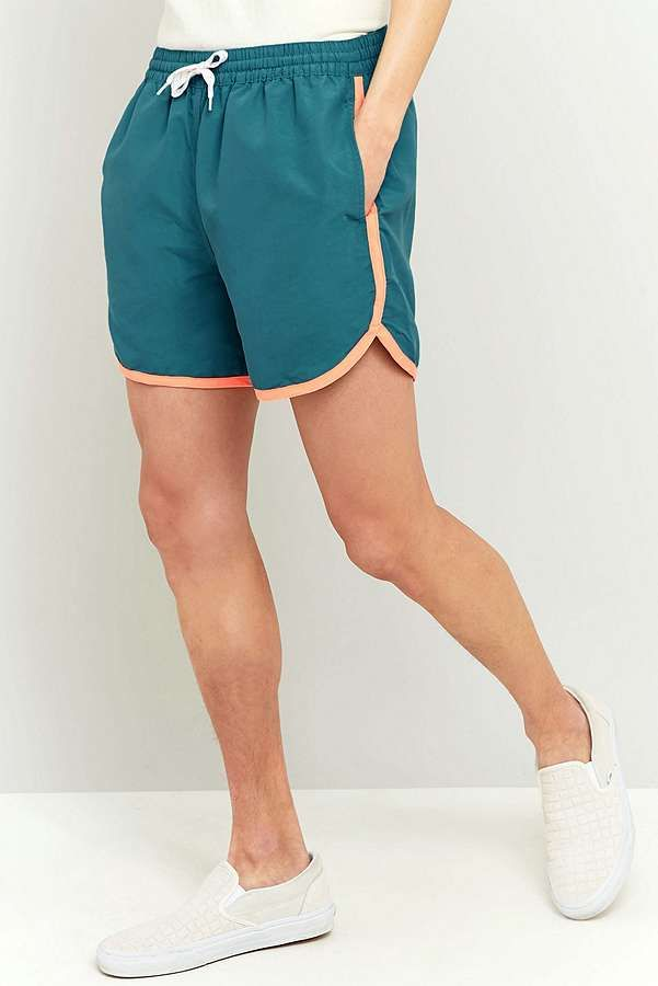 Slide View: 2: Urban Renewal Vintage Surplus Teal Chubbies Swim Shorts