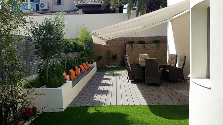 Artificial grass with Composite decking