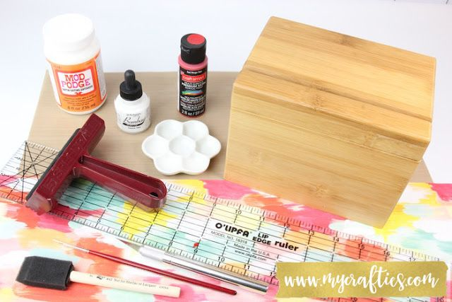 Recipe Box Decoupage - www.mycrafties.com