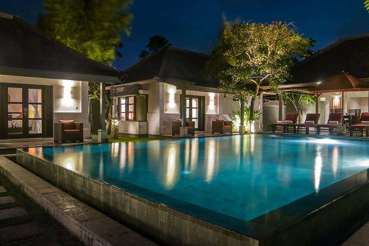 Bali Villa Photography - Ulin Villas - pool views dusk lighting