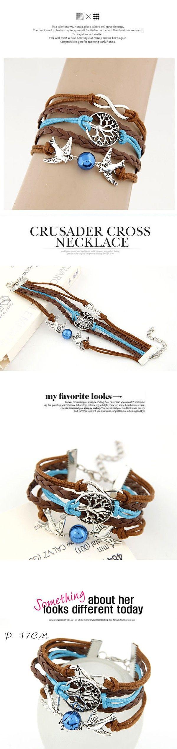 Energie coffee birds decorated simple design alloy Korean Fashion Bracelet www.asujewelry.com