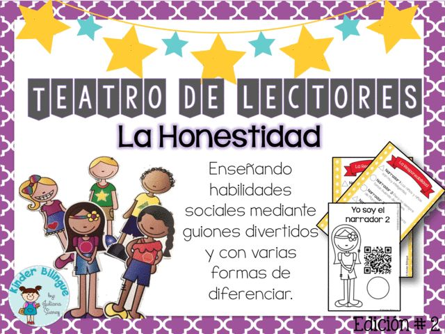 Check out Teatro de lectores- 01 La Responsabilidad (Readers' Theater in Spanish) Made with lots of love! ❤️  http://www.kinderbilingue.com/products/teatro-de-lectores-01-la-responsabilidad-readers-theater-in-spanish-1?utm_campaign=crowdfire&utm_content=crowdfire&utm_medium=social&utm_source=pinterest