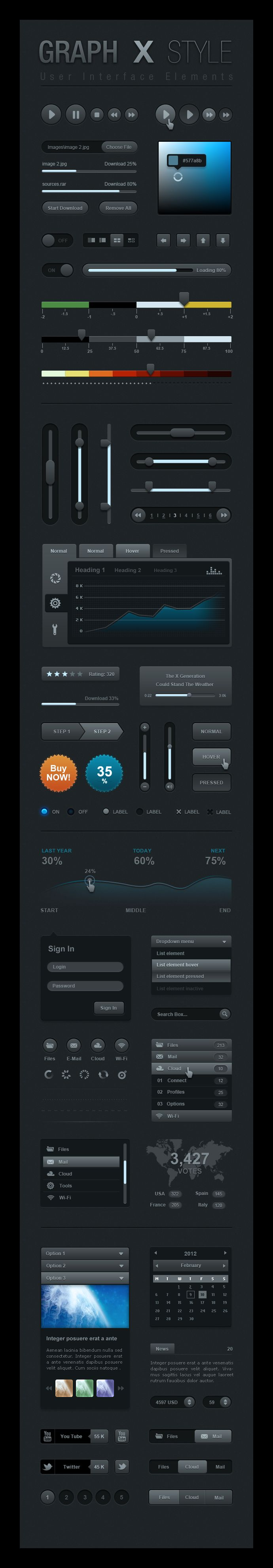 Graph X User Interface elements by dmonzon