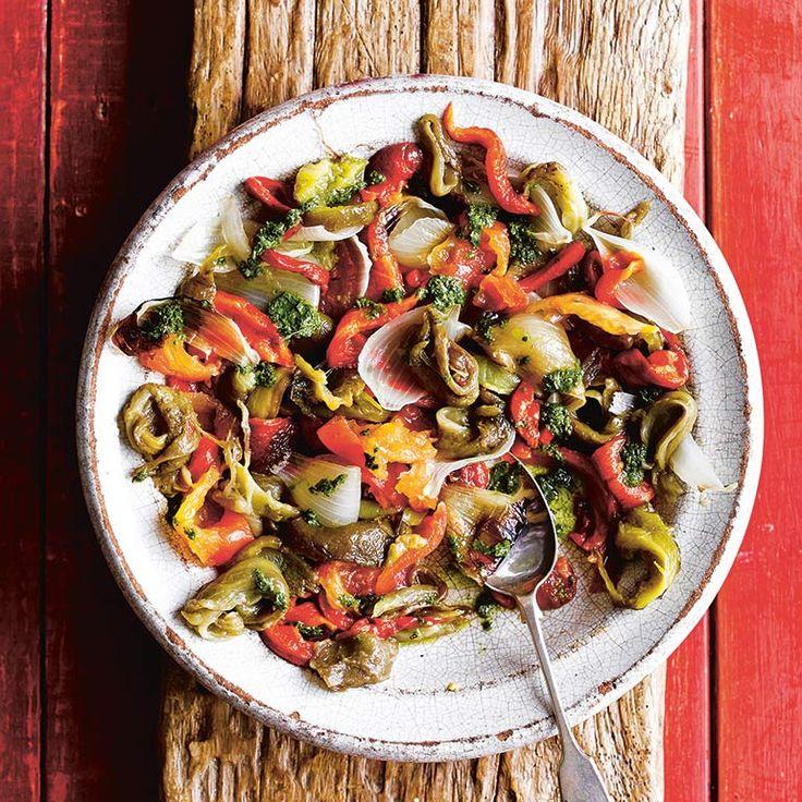 Catalaanse geroosterde groenten salade