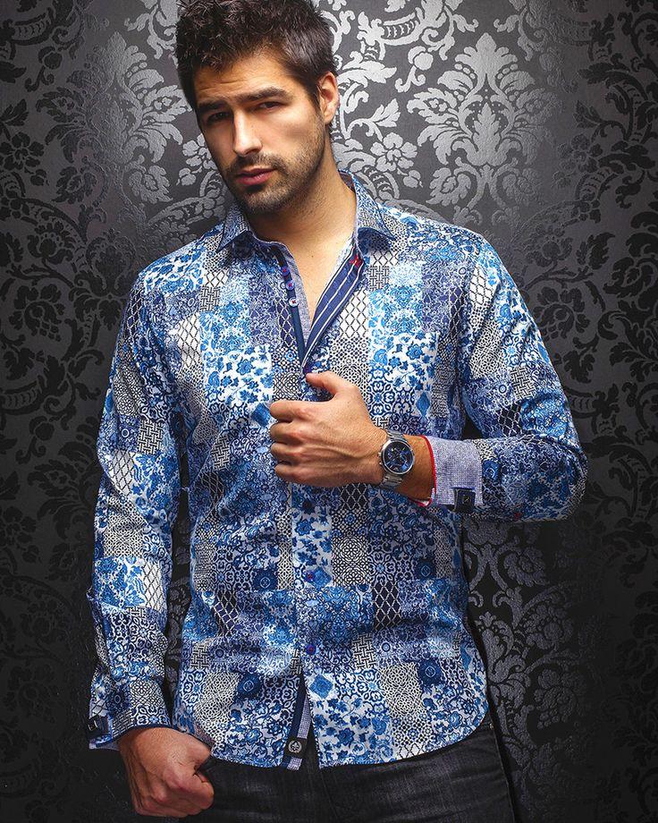 Au Noir Shirt - Fernando - Blue
