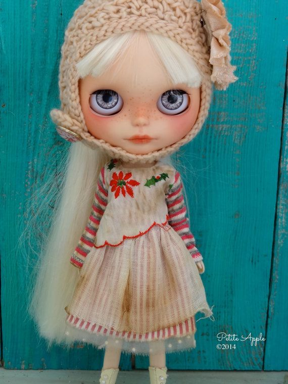 Blythe doll outfit OOAK *Heilige Nacht 1910* by Petite Apple