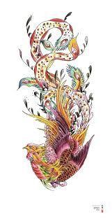 Phoenix-Tätowierung – Mandala