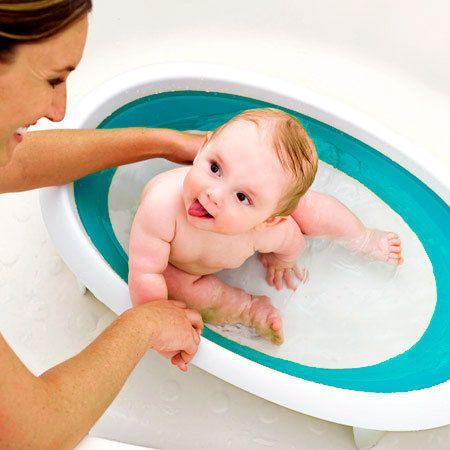 Bañera bebé plegable Naked azul | Tecniac