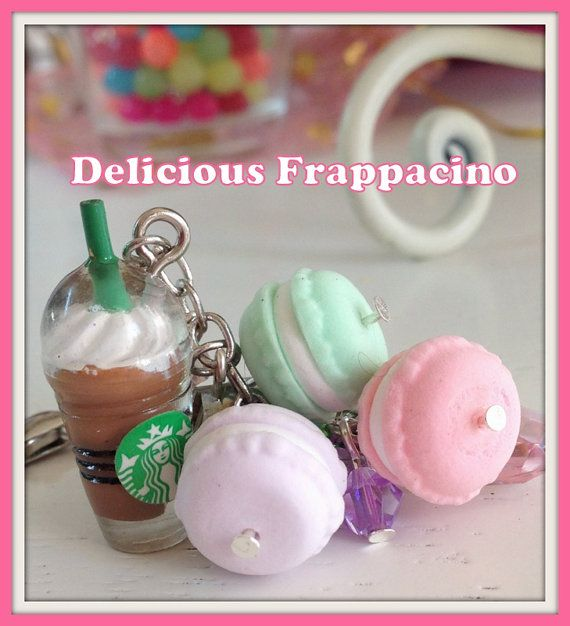 How CUTE is this charm??? Coffee and Macarons macaroons Cute Kawaii  by CraftersRetreat