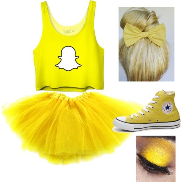 Snapchat Halloween costume by sydderboo on Polyvore featuring Converse