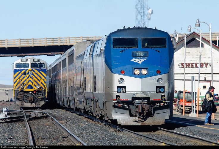 RailPictures.Net Photo: AMTK 116 Amtrak GE P42DC at Shelby, Montana by Tim Stevens