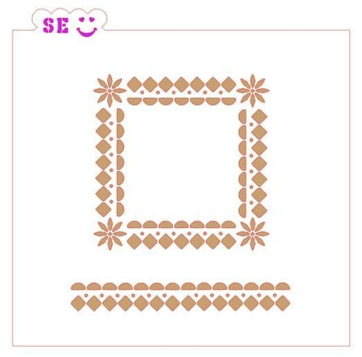 Southwestern Frame Background with Bonus Border for Cookies, Cakes & Culinary