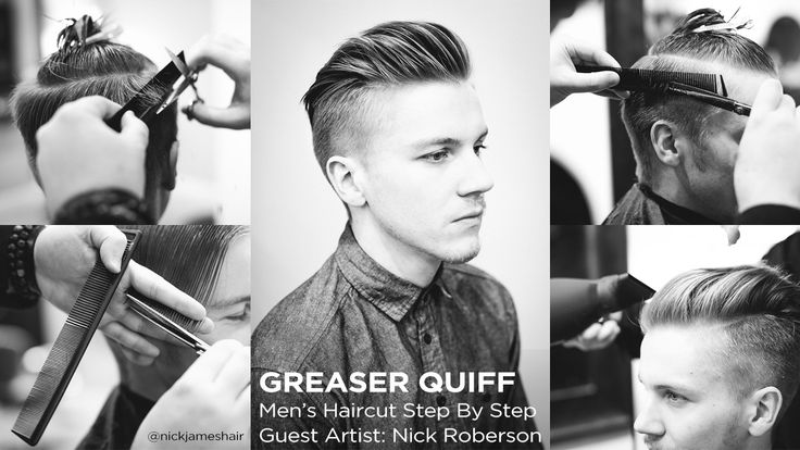 The Greaser Quiff Men's Haircut Step By Step / Sam Villa - Professionals