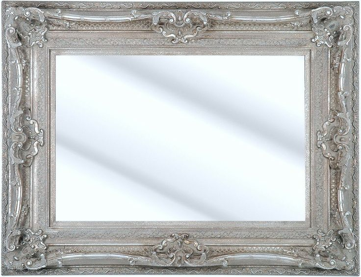Como Silver Framed Ornate Bevelled Mirror 6 Sizes Click