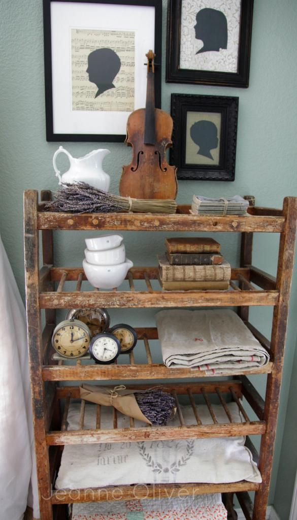 Finding Fall Home Tours 2013 {Decorating For Fall} | Jeanne Oliver   does M have dad's old violin???