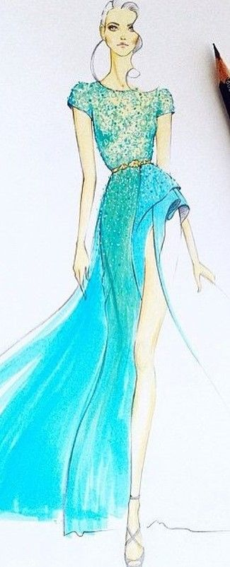 Zuhair Murad fashion illustration