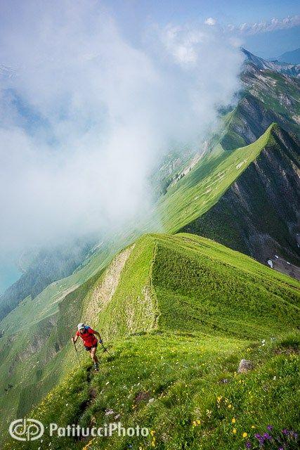 The Hardergrat Trail from Interlaken to Brienz, Switzerland.