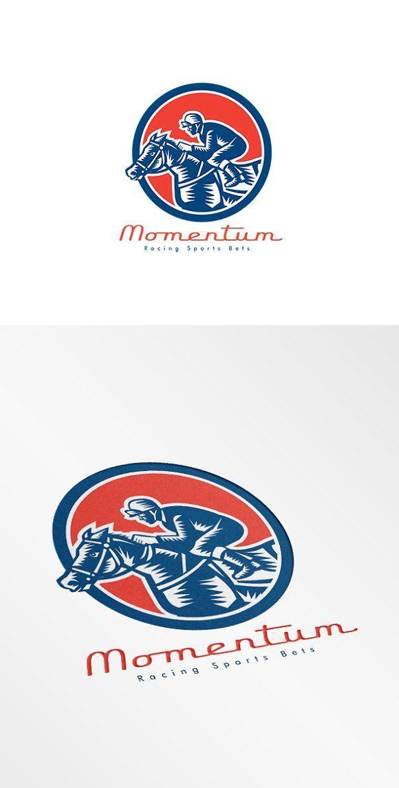 Momentum Racing Sports Bet Logo by patrimonio on @creativemarket