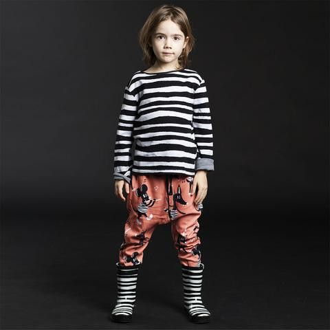 Koolabah- Black & White Striped Wellies Rain Boots