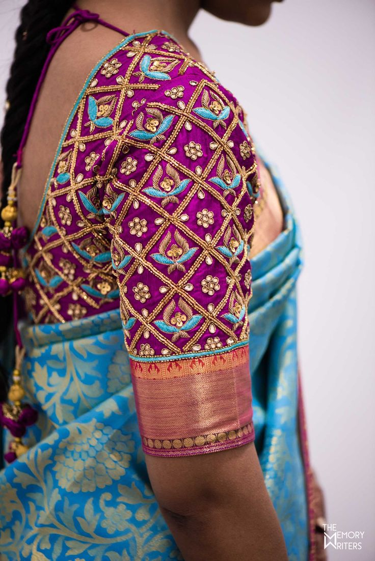 Blouses are of different sorts and every sort makes us fall head over heels in love. We might have seen many designs and patterns but there are a very few that have latched to our minds and keep lingering over and over again. Here are a collection of blouses that have made their way into our hearts. With unique cut-works, colour combinations that work wonders, simple yet elegant designs, you name it, these brides had it all. Shopzters present to you, their very favourite collection ...
