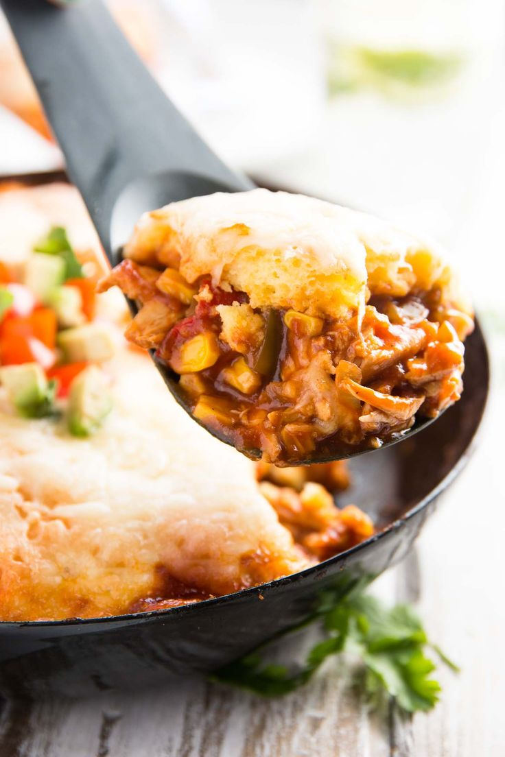 Make dinner time easy with this Cheesy Cornbread Chicken Tamale Pie Casserole recipe! Full of delicious flavors your whole family will love!