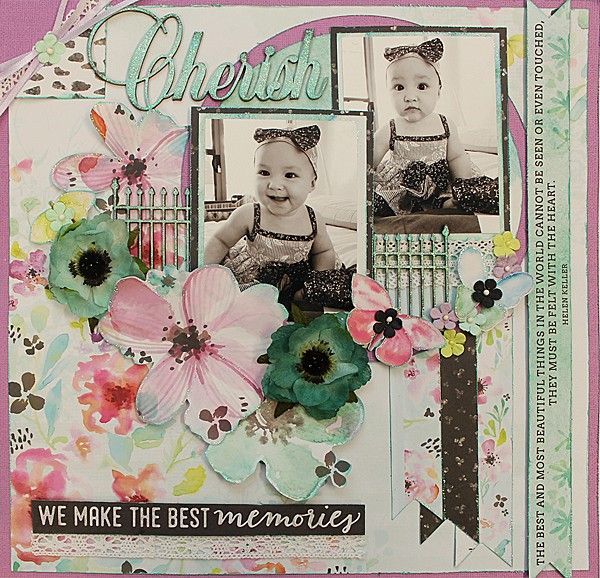 We Make The Best Memories - single page from Paper Roses Scrapbooking ♥ ♥ ♥
