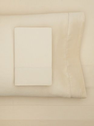 61% OFF Sateen Hemstitch Sheet Set (Taupe)