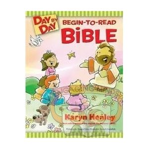 """With the Day-by-Day Begin to Read Bible, early readers can journey on their own through the entire Bible in one year.  They'll just need a little help with a few of the Bible names and terms.  The readings are arranged in the order in which they happened historically.  After each daily selection, your child can point to the """"I did it!"""" line and point to the star.  This Bible is lovely and colourful, with glossy pages and a hard cover."""