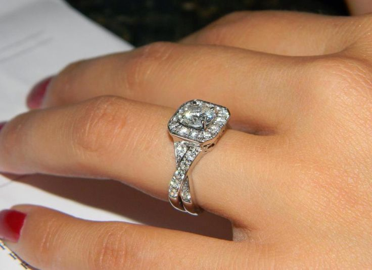 """I love my Leo Diamond Ring !!!"" - beautiful Leo Diamond engagement ring photo from Crystal"