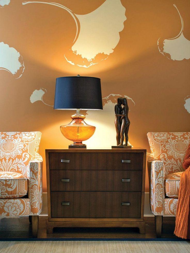 Die besten 25+ Orange wandfarben Ideen auf Pinterest Graue - wohnzimmer orange schwarz
