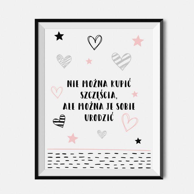 Plakat dla dzieci - Nie można kupić szczęścia, ale można je sobie urodzić