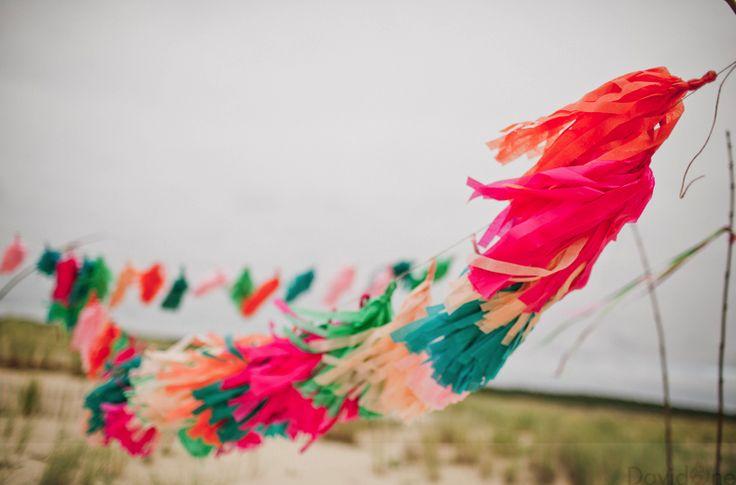 Décoration plage Pompon papier de soie