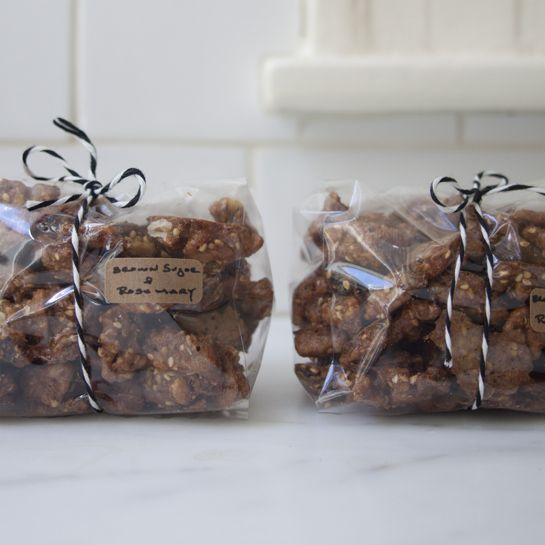 Brown Sugar Rosemary Walnuts. Holiday gift?