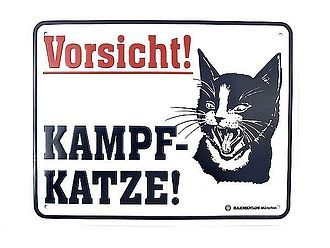 Funschild -Kampfkatze- - Hausnummern und Schilder online kaufen