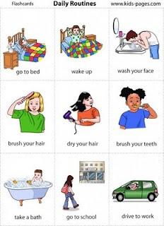 Daily routine visuals