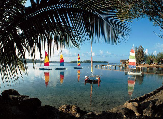 Escape Travel     Boats in lagoon, Vanuatu