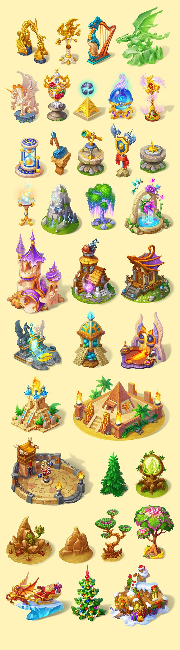Raise dragons and watch them grow from little babies into huge, beautiful creatures. Breed unique dragon species using the ones you already have. Build and develop your dragon sanctuary on the Flying Islands.