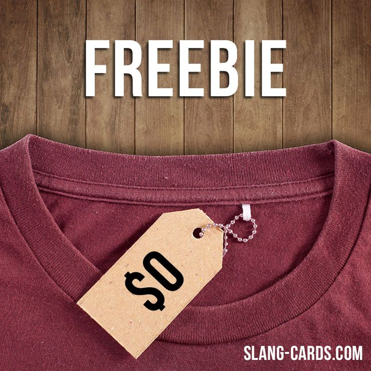 """Hello everybody!  Our #slang word of the day is """"Freebie"""", which means """"something you get for free"""". Origin: 1940s (originally US) - an arbitrary formation from """"free"""".  #englishslang #english #learnenglish"""