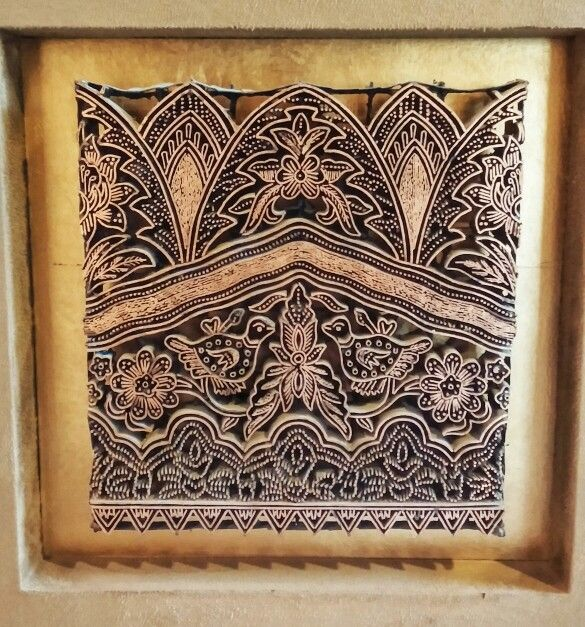 The unique pattern of Copper Stamp (canting cap) to make stamped Batik #Batik #canting #Indonesia